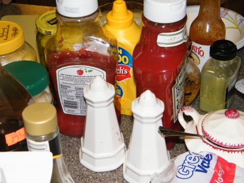 There is no such thing as too much ketchup.